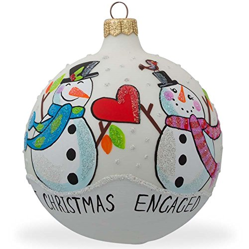Snowman Engagement Ornament