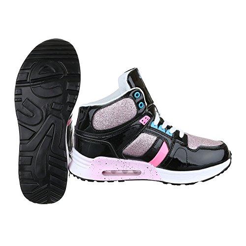 Ital-Design - Zapatillas altas Mujer Schwarz Multi