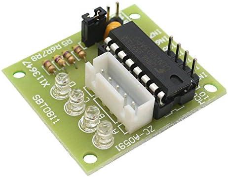 HALJIA - Motor Paso a Paso (5 V, 4 Fases) y Controlador ULN2003 Compatible con Arduino: Amazon.es: Electrónica