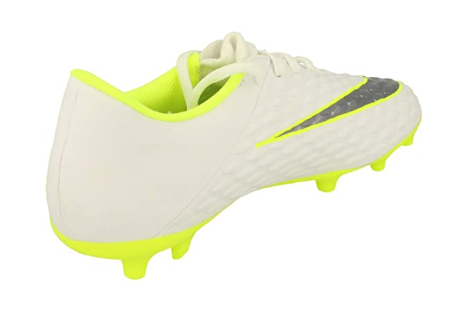 85a3966f3a4 Nike Men s Hypervenom Phantom 3 Club FG - White Metallic Cool Grey Volt  Football Shoes  Buy Online at Low Prices in India - Amazon.in