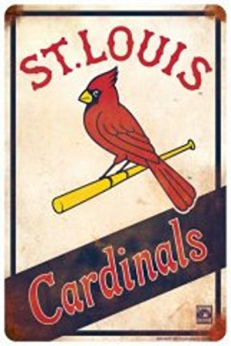 St. Louis Cardinals Retro Parking (Aluminum St Louis Cardinals Frame)