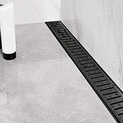 Neodrain Professional 36 Inch Linear Shower Drain Manufacturer With Removable Capsule Pattern Grate Brushed 304 Stainless Steel Rectangle Shower Floor Drain Adjustable Leveling Feet Hair Strainer Amazon Com