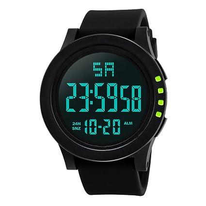 Digital Reloj Deportivo,Logobeing Hombres LED Impermeable Digital de Cuarzo Militar de Lujo Deportivo Fecha