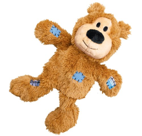 Large Product Image of KONG Wild Knots Squeaker Bears for Dogs, Medium/Large, Colors Vary