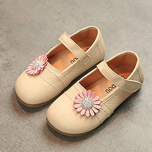 Hunpta Baby Fashion Kleinkind Kinder Floral Ballerina Prinzessin Casual Flache Schuhe Beige