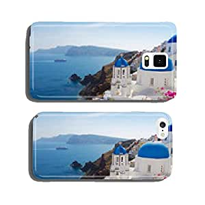 view of caldera with blue domes, Santorini cell phone cover case iPhone6