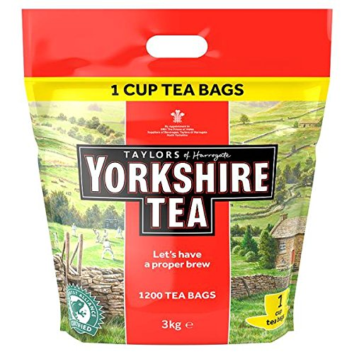 Yorkshire Tea Taylors Of Harrogate 1200 Tea Bags 3Kg - Pack Of 2 by Yorkshire Tea