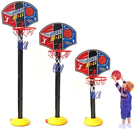 Portable Basketball Hoop Stand Set Indoor Outdoor with Net /& Mini Ball for Kids Toddlers Child Gift 1pack