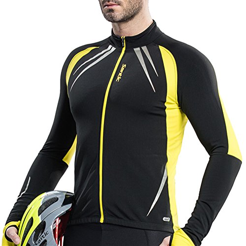 Santic Men's Cycling Fleece Thermal Winter Jacket Yellow-Gabriel X-Large (Cycling Jersey Winter compare prices)
