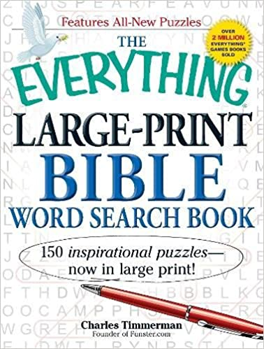 The Everything Large Print Bible Word Search Book 150