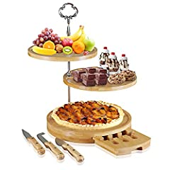 🔹       Are you tired ofwobblyorblandcheese boards? Are you looking for an easy to use simple yetelegantserving/cheese tray?       Look no further becauseHosting Elegancehas just solved all your problems.       Be an amazing pa...