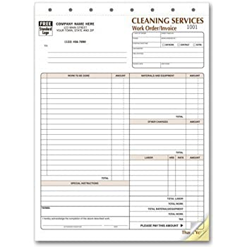 cleaning service invoice forms office products. Black Bedroom Furniture Sets. Home Design Ideas