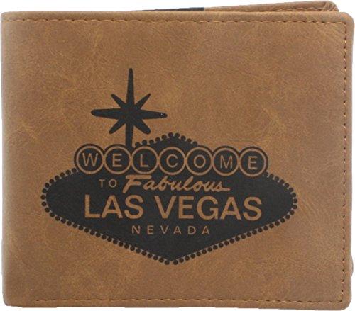 Las Vegas Lights (True Gear Men's State Wallets - Las Vegas (Light Brown))