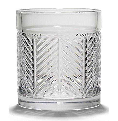 (Double Old Fashioned by Ralph Lauren Home - Herringbone Single Crystal Glass Made in Germany 11.1 Ounce)