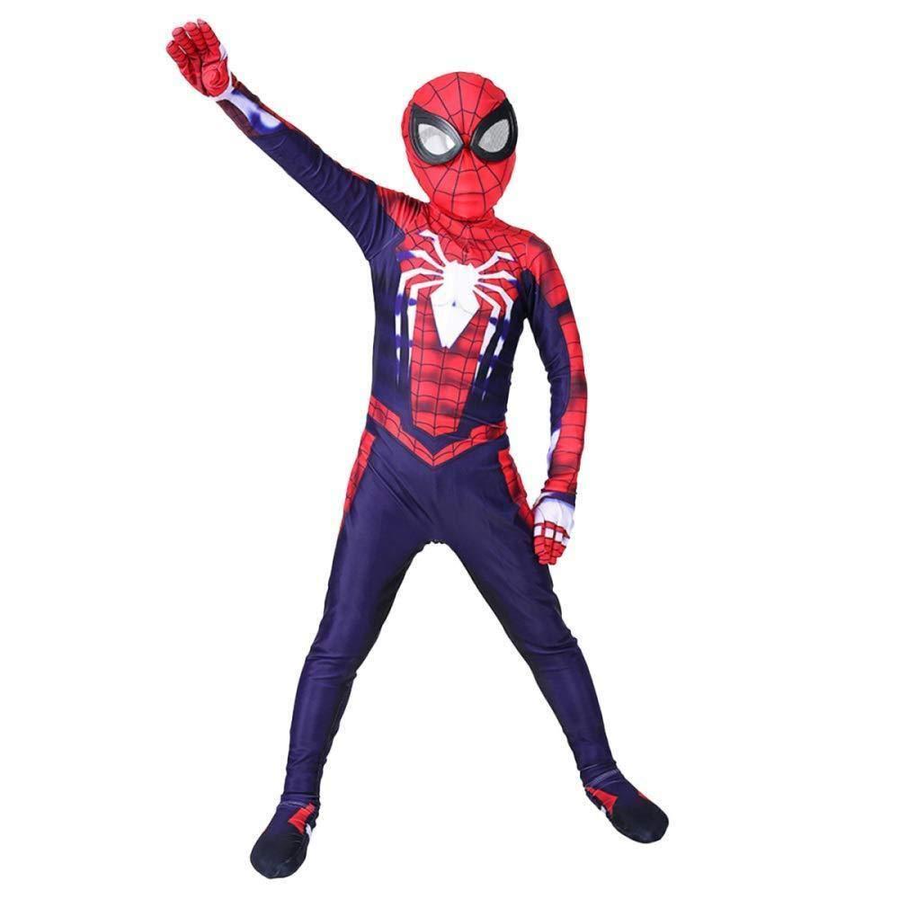 Traje De Spiderman Niño Cosplay Leotardo Spandex Disfraz De ...