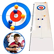 AYily Tabletop Curling Game, Foldable Tabletop Curling Game Family Board Game Compact Curling Family Games for