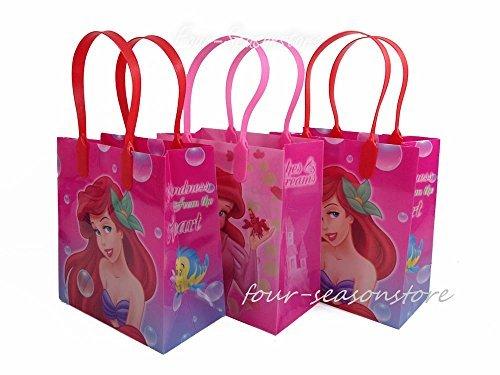 - Disney 12pcs Princess Ariel Little Mermaid Goodie Bags Birthday Party Favor Bags Gift Bags