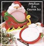 Jolly Santa 5 Pc. Coaster Set