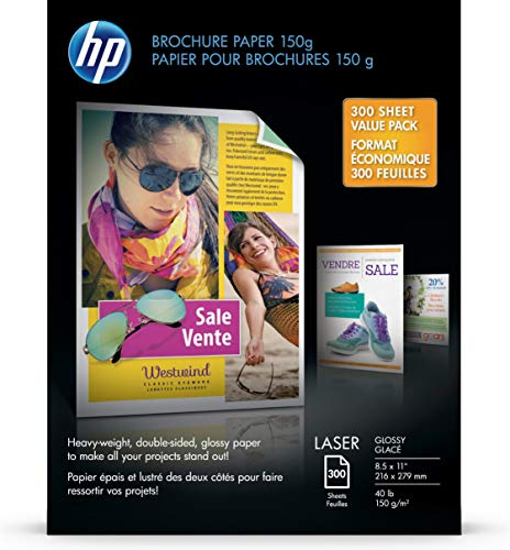 Hp Brochure 150G Laser Paper, Glossy 8.5. X 11, 300 Sheets