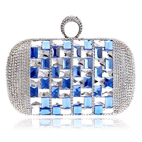 FUBULE Pochette Bleu Bleu Femme pour Bleu rUqnrHW
