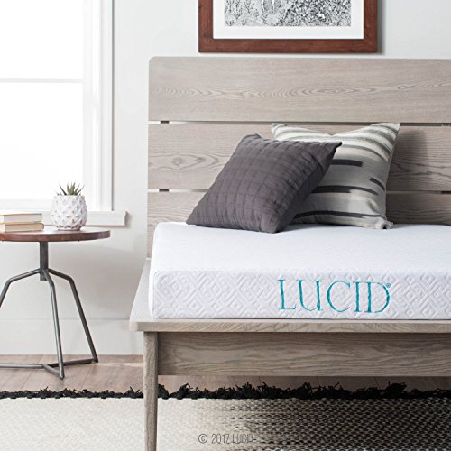 Lucid 5 Inch Gel Memory Foam Mattress   Dual Layered   Certipur Us Certified   Firm Feel   Queen Size