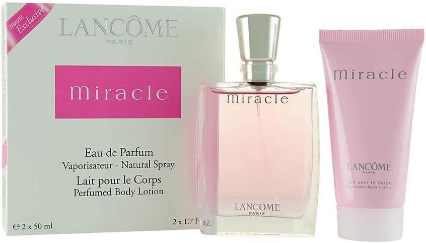 Set Miracle para mujer: Eau de Toilette 50 ml spray + leche corporal 50 ml leche corporal mujer: Amazon.es: Salud y cuidado personal