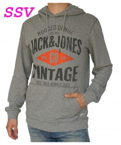 Jack & Jones Vintage Hoodie Pullover Sweathirt Twist Hoodie Tabasco (Orange) L