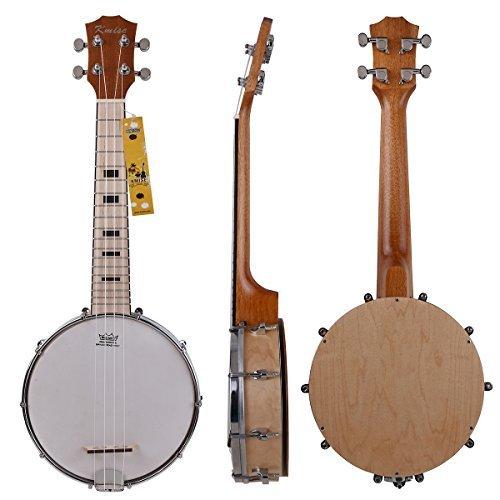 Kmise Banjo Ukulele 4 String Ukelele Uke Concert 23 Inch Size Maple Wood