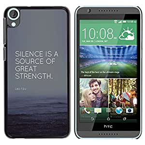 Cubierta protectora del caso de Shell Plástico    HTC Desire 820    Strength Source Quote @XPTECH
