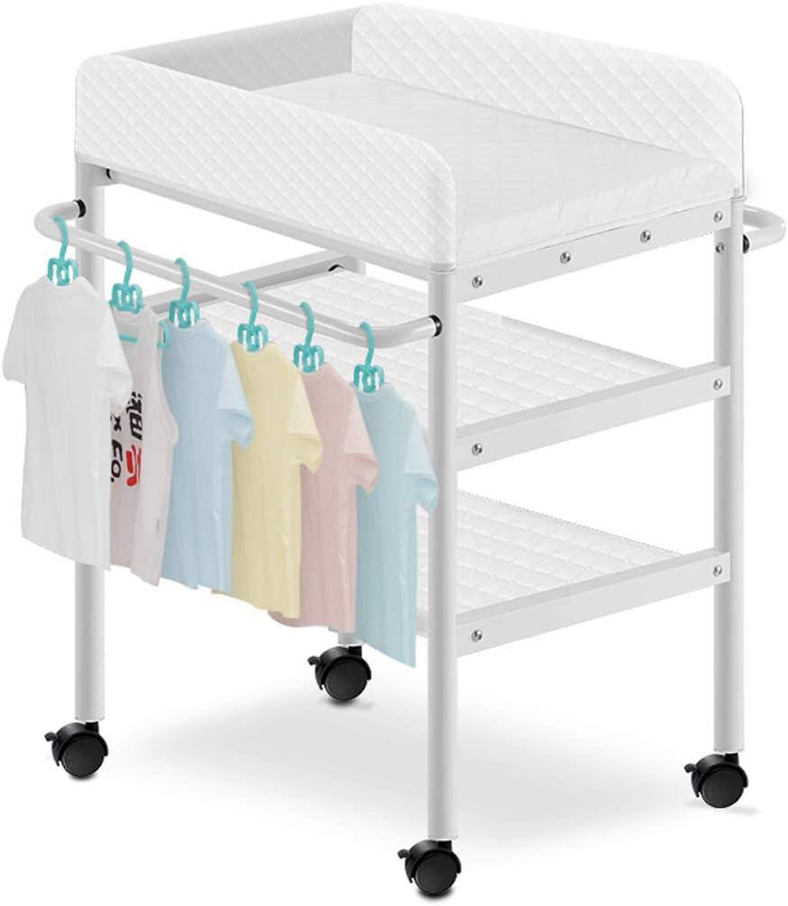 2の1 赤ちゃん テーブルステーションの交換 収納&ロックホイール付き 幼児 ドレッサー、 85×50×93cm