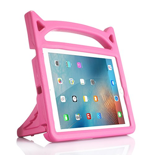 Price comparison product image New iPad 9.7 / iPad Pro 9.7 / iPad Air / iPad Air 2 Case,  Lmaytech 7 Color Light Weight Shock Proof Cartoon Kids Case Cover for iPad Air / Air 2 / iPad Pro 9.7 and iPad 9.7 (iPad Pro 9.7 Case,  pink)
