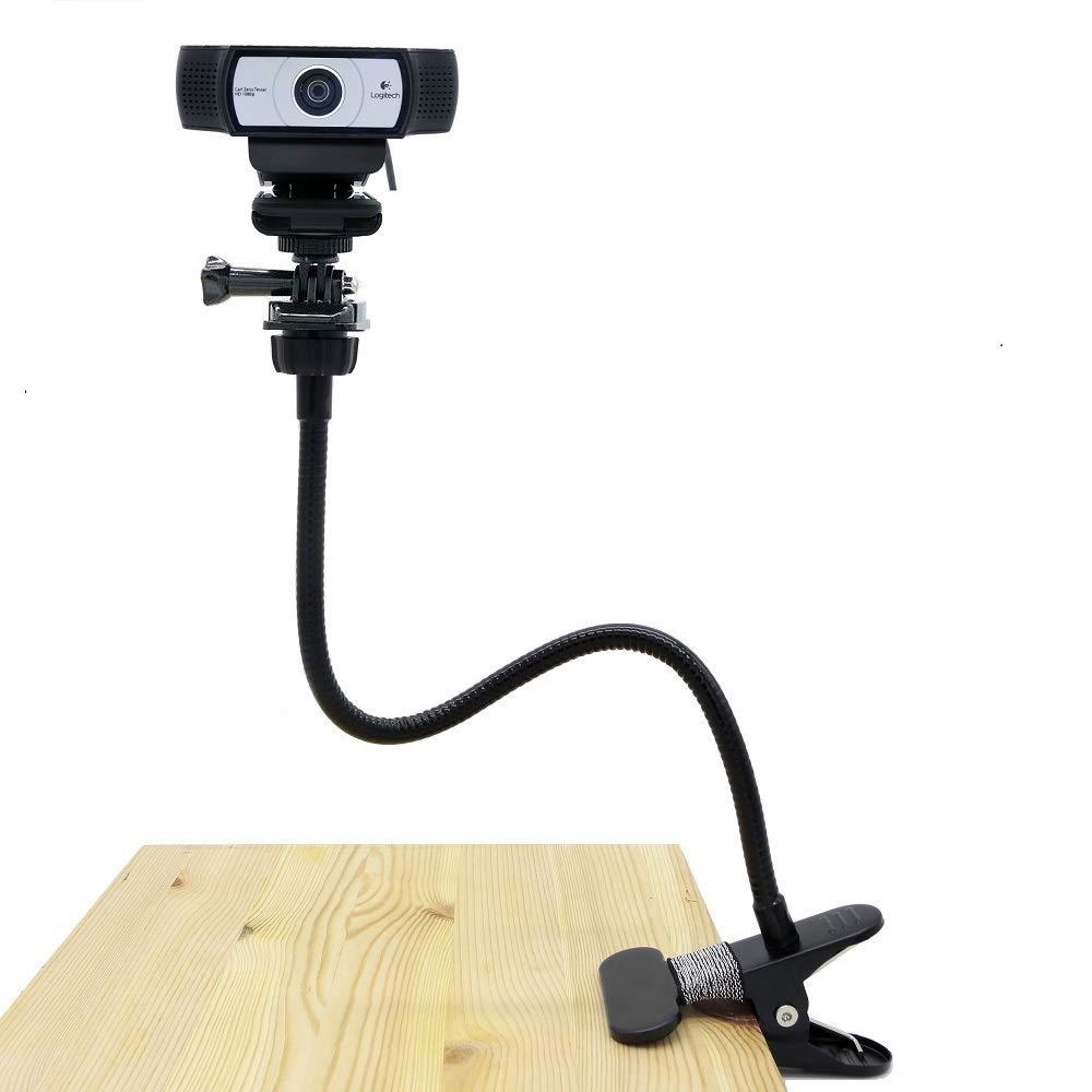 Desk Mount Webcam, Webcam Flexible Mount Clamp Gooseneck Stand for for Logitech Webcam Brio 4K, C925e,C922x,C922,C930e,C930,C920,C615-15 inches