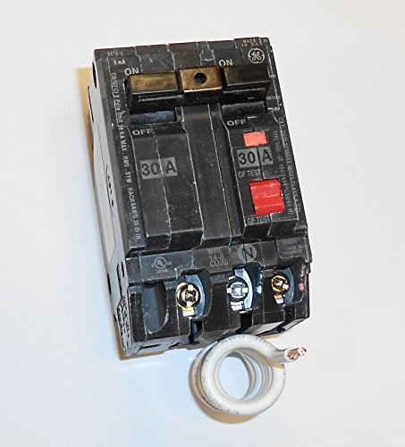 Ge Gfci Breakers - GE THQL2130GFT Plug-In Mount Type THQL Feeder Self-Test Ground Fault Circuit Interrupter 2-Pole 30 Amp 120/240 Volt AC