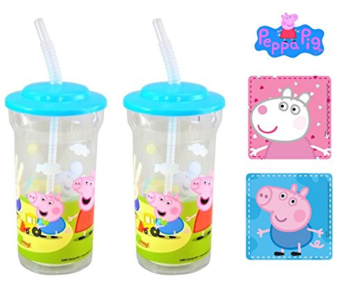 Peppa Pig 2 pcs. Tumbler with straw by Little Boogers
