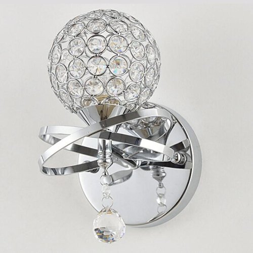 E12 E14 Modern Luxury Crystal Bathroom wall Sconce Lighting Metal Fixture by Liinmall