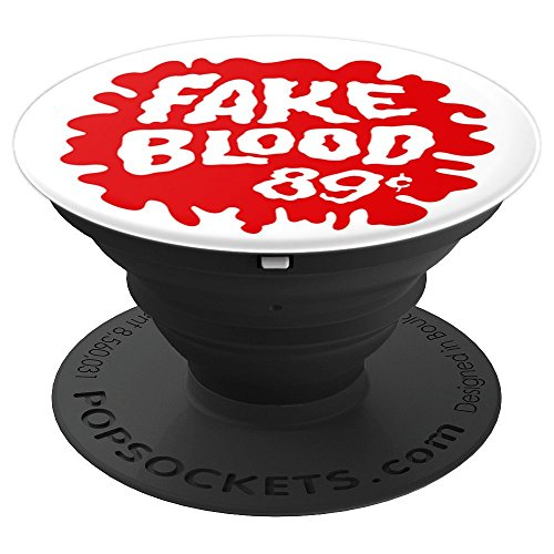 Fake Blood - Funny Retro Halloween - PopSockets Grip and Stand for Phones and Tablets