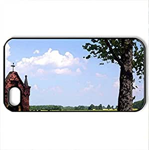 roadside shrine in the czech republic - Case Cover for iPhone 4 and 4s (Religious Series, Watercolor style, Black)