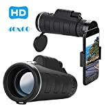 Liu Nian Cell Phone Camera Zoom Lens Kit, 40X60 Zoom 40X Optical HD Lens Monocular Telescope + Clip For Universal Phone, Samsung, Google, LG and Most phones