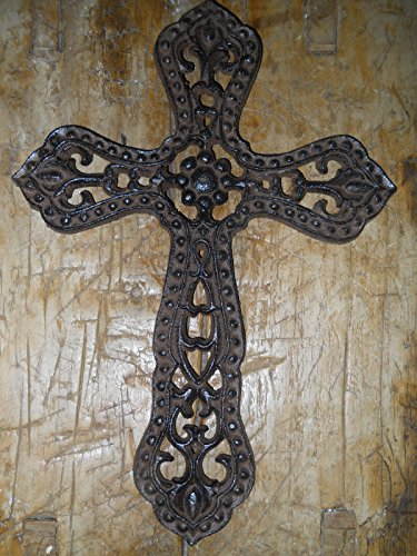 New Cast Iron by YourLuckyDecor Victorian Style RELIGIOUS CROSS Rustic Ranch Western Decor #3