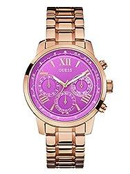 GUESS Women's Rose Gold-Tone Bracelet Watch 42mm U0330L8