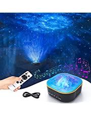 Galaxy Projector, Powaiter 3 in 1 Star Projector Starry Night Light with LED Nebula/Ocean Wave for Baby/Kids/Adults, Built-in Timer Function, Perfect for Bedroom/Party/Home Theatre