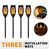 xtf2015 Solar Torch Lights, Waterproof Flickering Flames Solar Lights Outdoor 99 LEDs Landscape Decoration Lighting Dusk to Dawn Auto On/Off Torch Light for Garden Patio Yard Path Driveway, 4 Pack