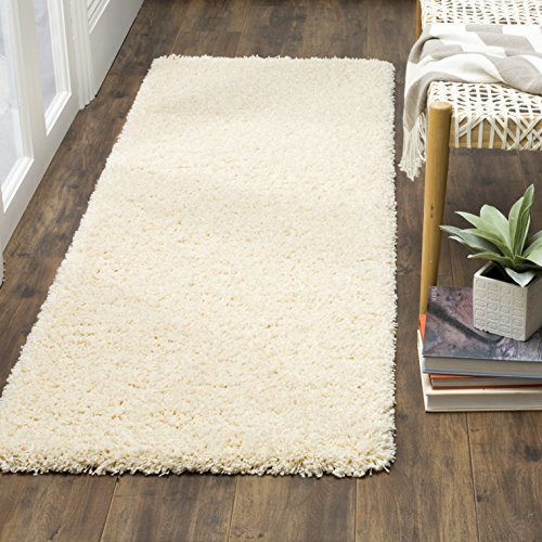 Safavieh California Premium Shag Collection SG151-1212 Ivory Runner (2'3