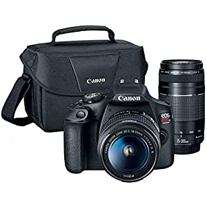 Canon T7 EOS Rebel DSLR Camera with EF-S 18-55mm f/3.5-5.6 is II and EF 75-300mm f/4-5.6 III Lens Plus Double Battery…