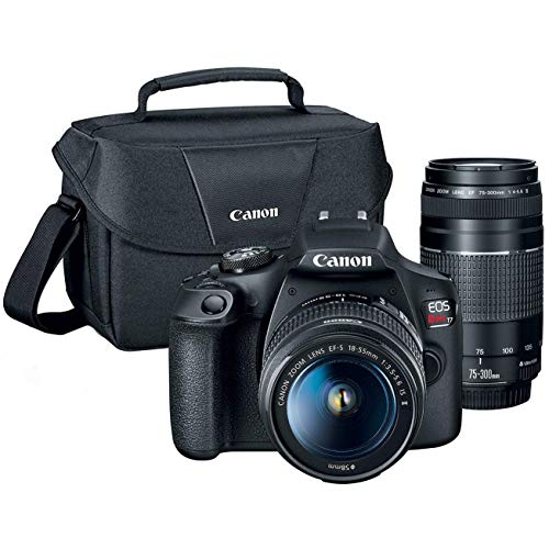 51Oy1ltnHdL - Canon T7 EOS Rebel DSLR Camera with EF-S 18-55mm f/3.5-5.6 is II and EF 75-300mm f/4-5.6 III Lens Plus Double Battery Accessory Bundle