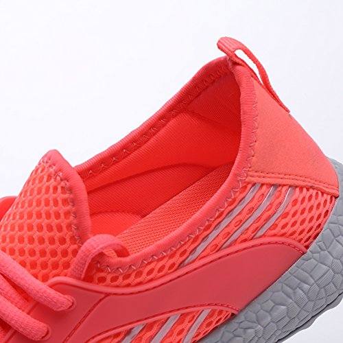Mxson Walking Shoes Running Breathable Womens Pink Lightweight Sneakers Casual Sport Ultra Mesh UwBFOqUa