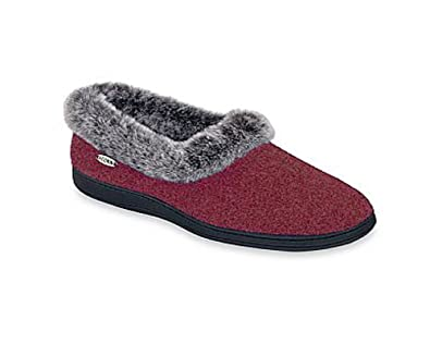 5844df859a69 Image Unavailable. Image not available for. Color  Acorn Womens Chinchilla  Collar Slip-On Slippers