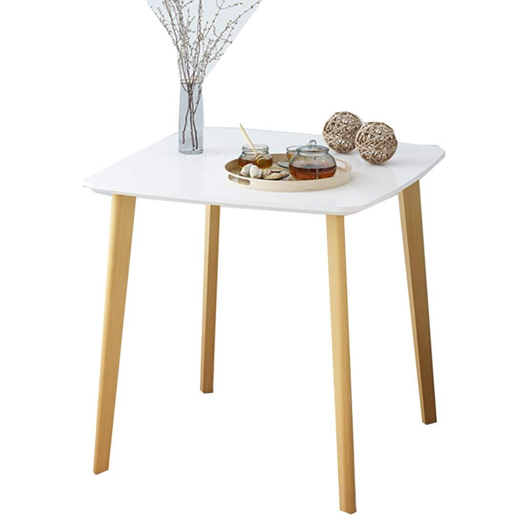 JianMeiHome Tavolo tavolino Tavolo da Pranzo Tavolo da tè Divano tavolino Quadrato tavolino da Ufficio Mobile da Ufficio tavolino in Legno Casual (Colore   Bianca)