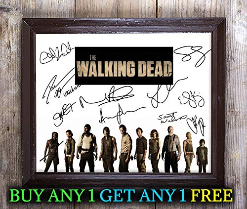 Cast A 8x10 Photo - The Walking Dead Tv Show Cast Autographed Signed 8x10 Photo Reprint #29 Special Unique Gifts Ideas Him Her Best Friends Birthday Christmas Xmas Valentines Anniversary Fathers Mothers Day