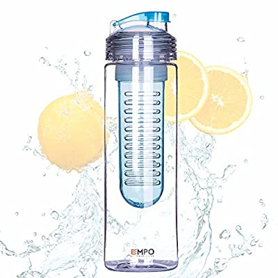 [BPA Free Tritan] Empo® Fruit Infuser Water Bottle (multi-size, multi-colour) with Free Recipe eBook - LIFETIME WARRANTY